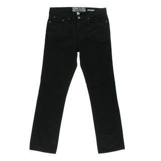 Kenneth Cole Reaction Mens I'm Kinda A Big Deal Distressed Straight Leg Jeans