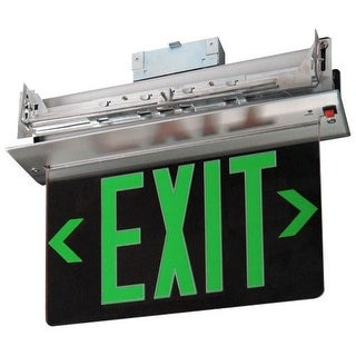 Elco EDGREC1 Energy Star Single Face Recessed Transparent Edge Lit LED Exit Sign