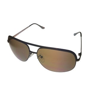 Timberland Mens Sunglass Brown Metal Aviator, Brown Lens TB7130 48E - Medium