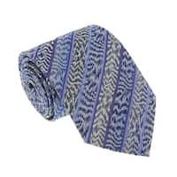 Missoni U4305 Blue/Purple Flame Stitch 100% Silk Tie - 60-3