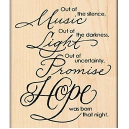 "Penny Black Mounted Rubber Stamp 3.25""X3.5""-Hope Is Born"
