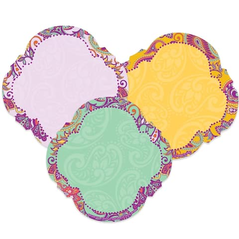 Positively Paisley Paper Cut-Outs, 36 Per Pack, 3 Packs - One Size
