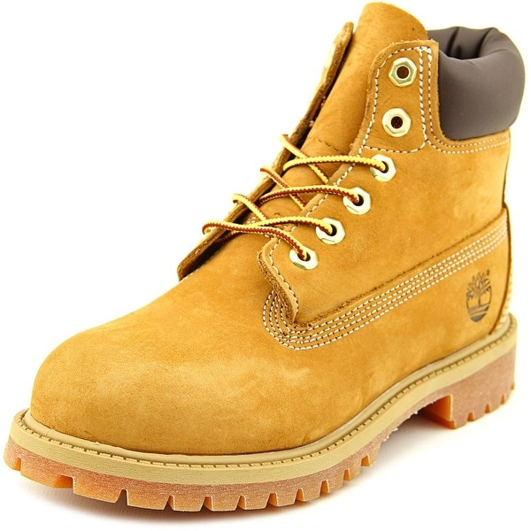 "Timberland 6"" Premium Youth Round Toe Leather Tan Boot"