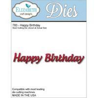 Happy Birthday - Elizabeth Craft Metal Die