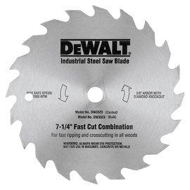 """DeWalt 7-1/4"""" 20T Steel Blade"""