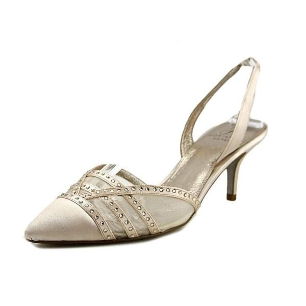 Adrianna Papell Hestia Women Pointed Toe Canvas Tan Slingback Heel