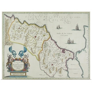 """Antique map of Morocco"" Poster Print"