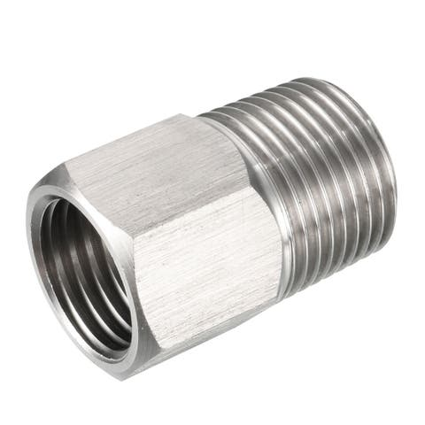 """Pressure Gauge Adapter, Pipe Fitting, 3/8"""" Male Pipe x M14 Female Pipe with O-ring - G3/8"""" x M14"""