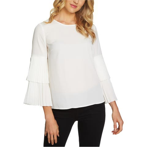 1.State Womens Tiered-Sleeve Knit Blouse