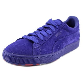 Puma Suede Classic+ Rubber Mix Youth Round Toe Suede Blue Sneakers
