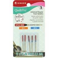Sizes 11/80 (2) & 14/90 (3) - Quiltpro Titanium Universal Reg Pt Machine Needles