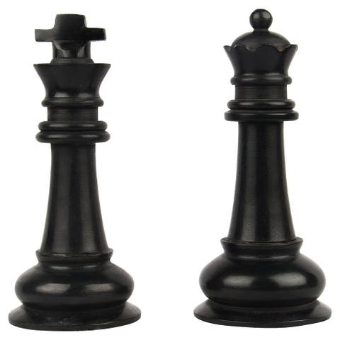 GAURI KOHLI Checkmate Marble King Queen Decorative Accent