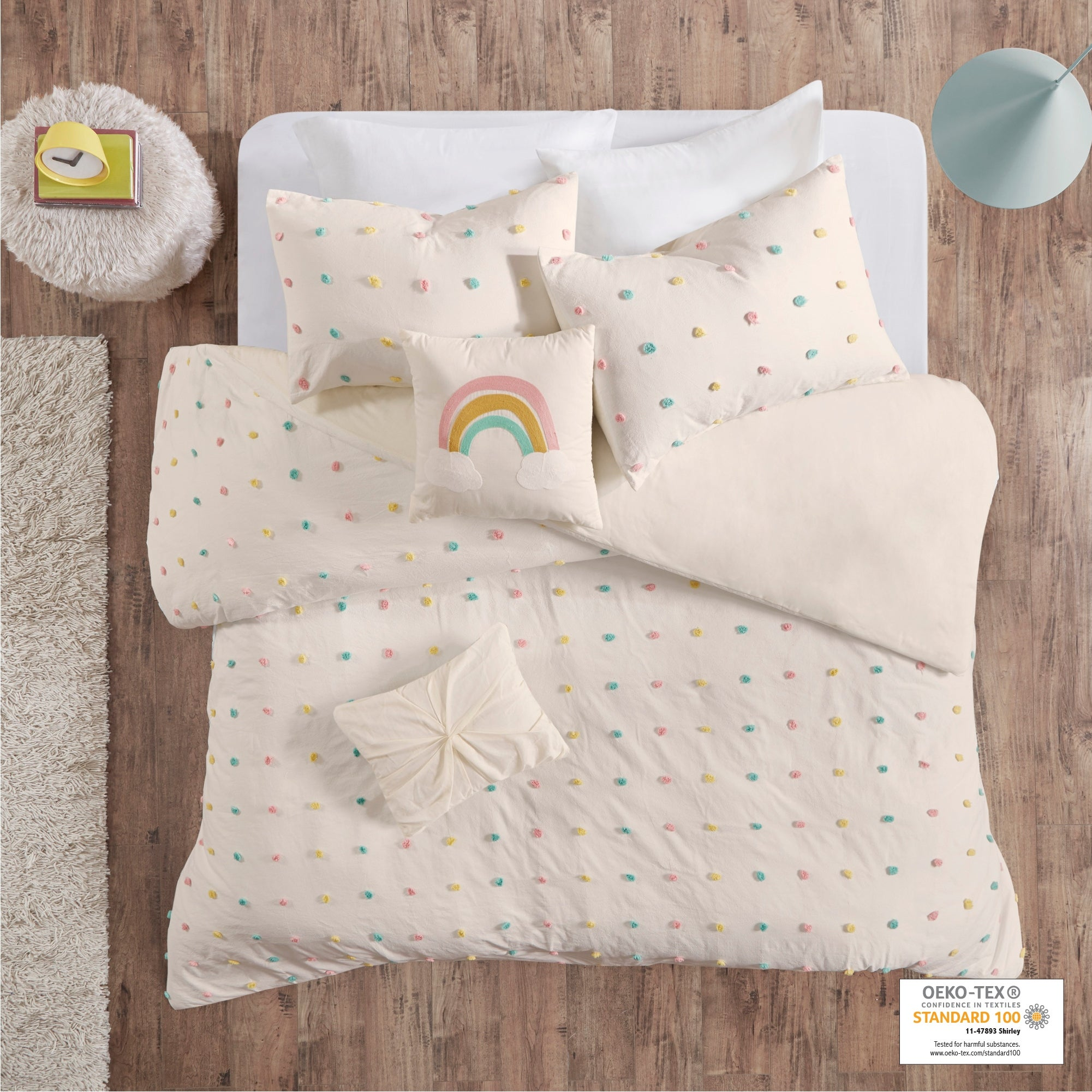 Urban Habitat Kids Ensley Cotton Jacquard Pom Pom Duvet Cover Set Overstock 30566681