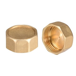 """Brass Cap, Hex Pipe Fitting 1""""G Female Pipe Connector 2pcs - 1"""" G 2pcs"""