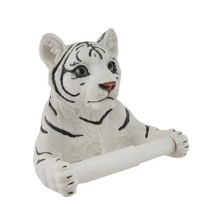 White Tiger Sculptured Bath Tissue Holder