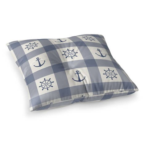 ANCHOR GALORE BLUE Floor Pillow by Kavka Designs