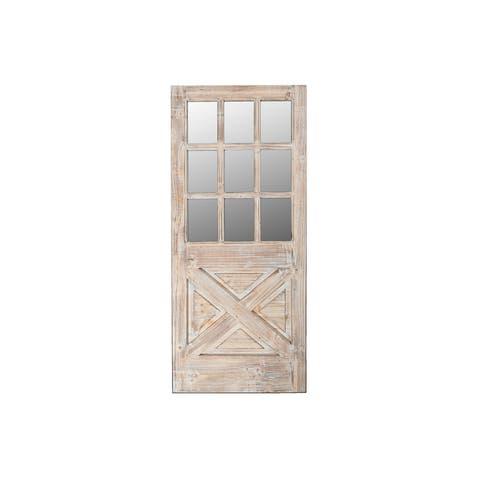 Wood Door Frame With Mirror