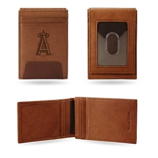 4 Brown MLB Los Angeles Angels Front Pocket Wallet N A