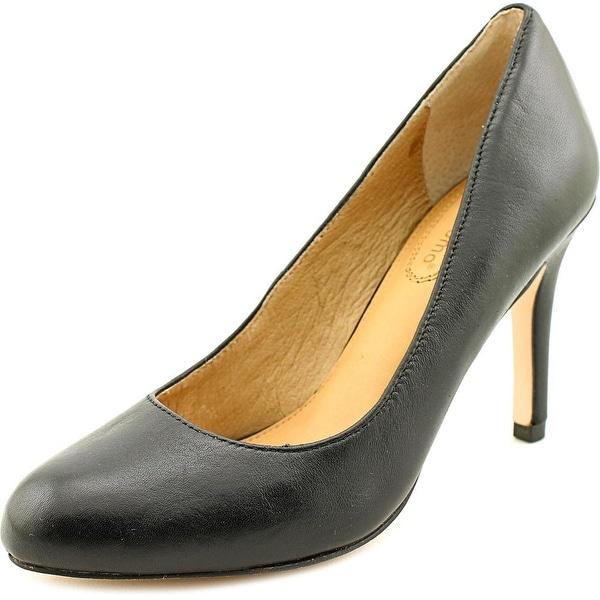Corso Como Del Women Round Toe Leather Black Heels