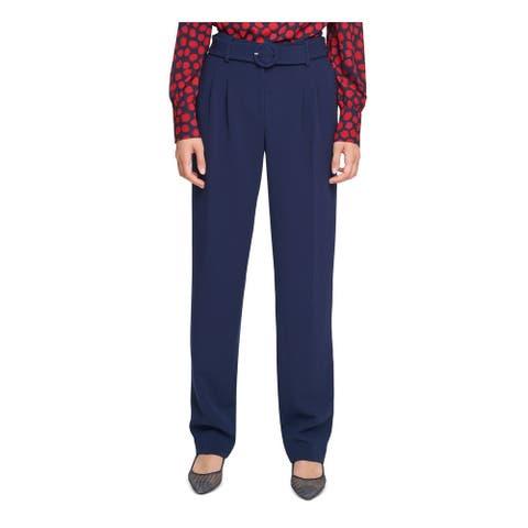 KARL LAGERFELD Womens Navy Straight leg Wear To Work Pants Size 4