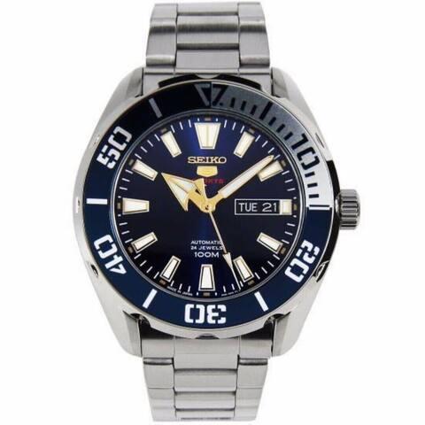 Seiko Men's SRPC51J1 'Sports' Stainless Steel Watch - Blue