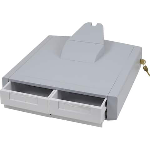 Ergotron 97-988 ergotron styleview primary storage drawer,double.upgrade a non-drawer cart with - Gray