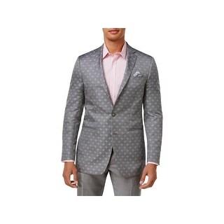 Tallia Mens Two-Button Suit Jacket Paisley Slim Fit - 40S