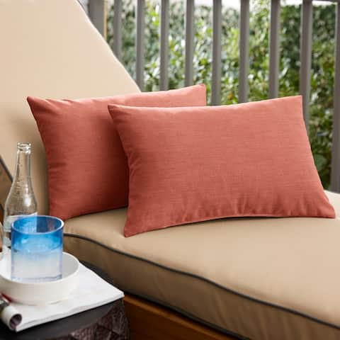 Coral Knife Edge Lumbar Pillows (Set of 2) by Havenside Home
