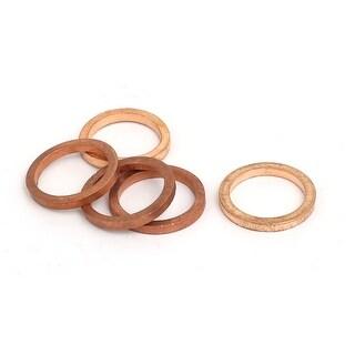 5pcs 14mmx18mmx2mm Copper Flat Ring Sealing Crush Washer Gasket