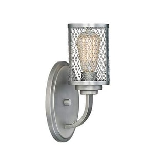 "Millennium Lighting 3271 Akron Single Light 13"" Tall Bathroom Sconce with Mesh Style Cylinder Metal Shade"