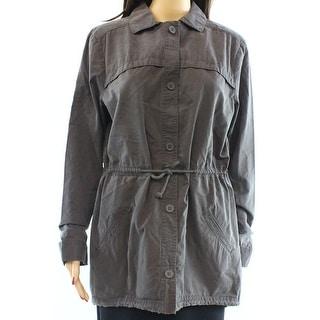 Free Press NEW Gray Pavement Womens Size Small S Military Jacket