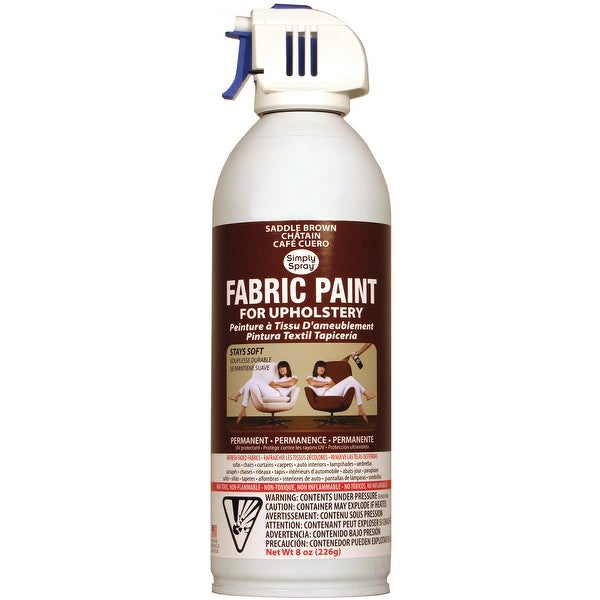 Upholstery Spray Fabric Paint 8oz-Saddle Brown