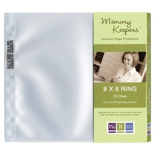 """We R Ring Photo Sleeves 8""""X8"""" 25/Pkg-Full Page"""