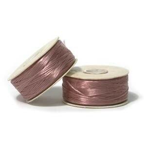 Four 64-Yard Spools Nymo Nylon Bead Thread Variety Pack Size D  0.30mm  .012 Earth Tones