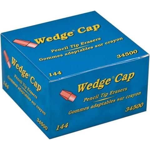 Pink - Dixon Wedge Pencil Cap Erasers 144/Pkg