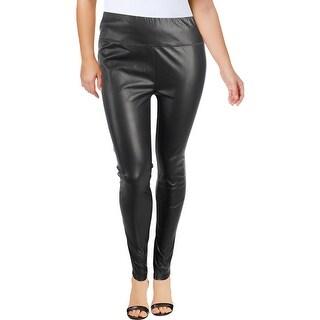 Lauren Ralph Lauren Womens Alatea Leggings Faux Leather High Rise