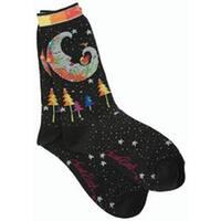 Mystic Moon - Black - Laurel Burch Socks