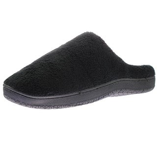 Luxehome Mens Fleece Slip On Clog Slippers - 6-8