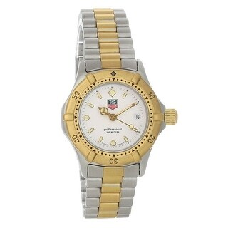 Link to Tag Heuer Women's WE1422.BB0307 '2000 Series' Two-Tone Stainless Steel Watch - White Similar Items in Women's Watches