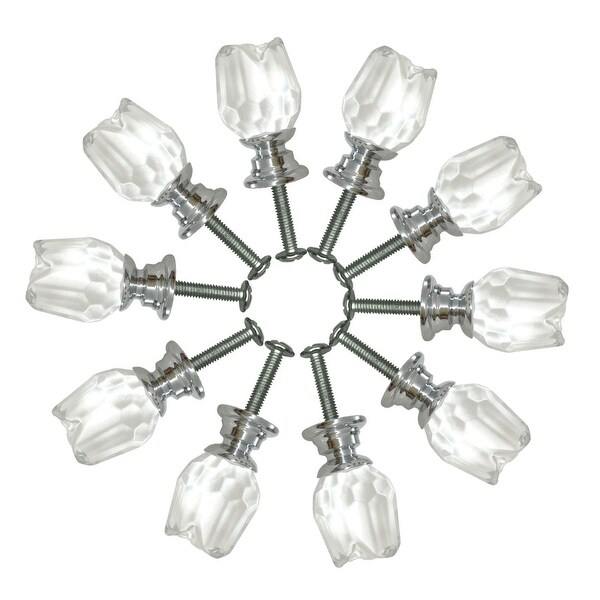 Cabinet Knob Tulip Shaped Clear Glass 10 Pcs | Renovator's Supply