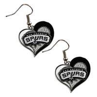 San Antonio Spurs  Swirl Heart Earring