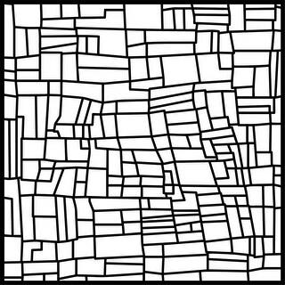 "Neat & Tangled Stencil 6""X6""-Patchwork Field"