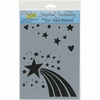 Crafters Workshop 6 x 9 in. Rainbow Star Workshop Journaling Stencils