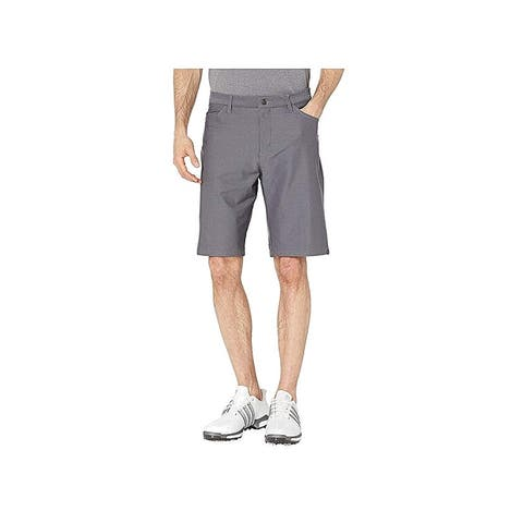 Adidas Mens Solid Gray Size 34 Straight Fit Ultimate 365 Shorts