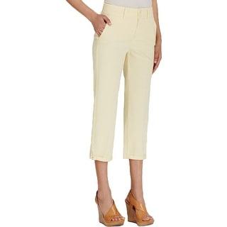 NYDJ Womens Izzie Capri Pants Embellished Ankles Cuffed