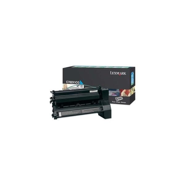 Lexmark C782X1CG Lexmark Extra High Yield Return Program Cyan Toner Cartridge - Cyan - Laser - 15000 Page - 1 Each