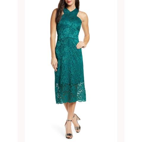 SAM EDELMAN Green Sleeveless Midi Dress 2