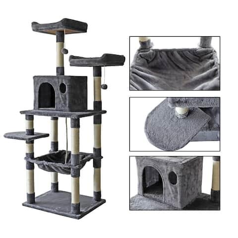 confote 63'' Multi-Level Cat Tree Activity Tower Condo