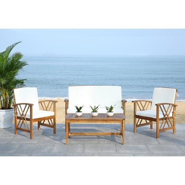 Safavieh Outdoor Living Fontana 4-Piece Patio Set. Opens flyout.
