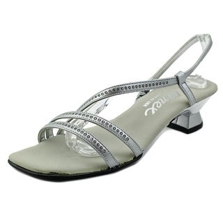 Onex Evening Women Open Toe Leather Silver Sandals